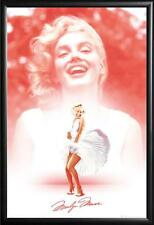 Marilyn Monroe Poster Laughing Dress Iconic in Premium Black Wood Frame 24x36