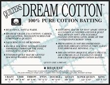 King Roll Quilt Batting Quilters Dream Cotton Natural Request Low Loft Crafting