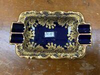 Lindner Porzellan Heidelberg Gilded Cobalt Blue Ashtray From Kueps Bavaria