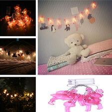 Pink Flamingo Fairy LED String Lights Party Patio Porch Wedding Christmas Decor