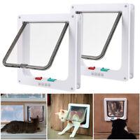 4 Way S M L XL Pet Cat Puppy Dog Magnetic Lock Lockable Safe Flap Door Gate