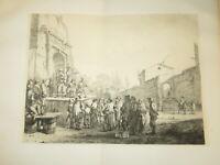 Jean Jacques de BOISSIEU (1736-1810) LES SALTIMBANQUES SPECTACLE MAGIE LYON 1773