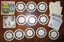 View-Master 3D Reel Lot Vintage Charlie Brown Godzilla Superman Mother Goose