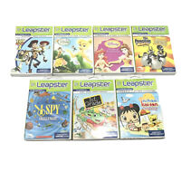 Lot Of 7 Leapster Games Disney Princesses, Toy Story 3, Madagascar, Tinkerbell