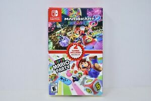 【Brand New】 Mario Kart 8 Deluxe + Super Mario Party Nintendo Switch 2020 Sealed