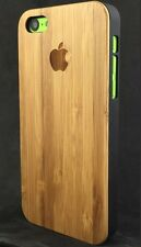 iPhone 5C Real Bamboo Wood Case, Genuine Wood Hard Back✔️Very Robust Cover✔️