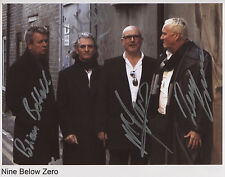 Nine 9 Below Zero (Band) Fully Signed Photo Genuine In Person