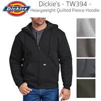 Dickies Men's TW394 Heavyweight Quilted Fleece Zip Up Hoodie