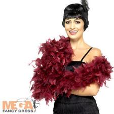 Deluxe Borgogna PIUMA BOA Donna Costume 20s Charleston Flapper Costume AC
