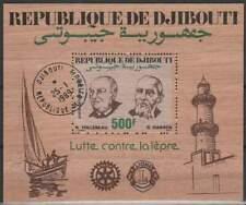 Djibouti gestempeld 1989 block - Lutte contre la Lepre (SG309)