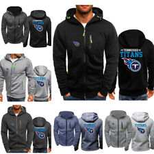 Tennessee Titans Sport Hooded Hoodie Zipper Sweatshirt Jacket Football Coat