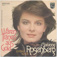 """MARIANNE ROSENBERG  Wären Tränen aus Gold - 7"""" Single 1974, Coverhülle SIGNIERT"""