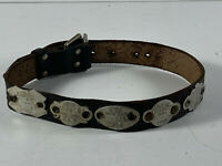 Vintage 1950's 60's Leather Dog Collar NYS Tag License New York State