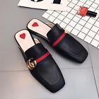 NEW Women Princetown Horsebit Slippers slip Flats Mules Loafers black