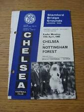 11/04/1966 Chelsea v Nottingham Forest [With Token Sheet] (punched holes). No ob