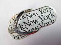 New York Metal Imán Chanclas Recuerdo Ee.uu. America, Nuevo