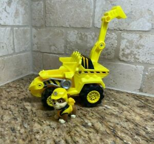 Paw Patrol Dino Rescue Rubble's Deluxe Rev Up Vehicle And Figure