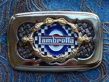NEW HANDCRAFTED IN THE U.K SCOOTER LAMBRETTA MOD BELT BUCKLE GOLD/BLACK METAL