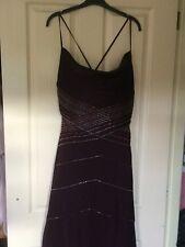 Pearce Fionda hand Beaded Dress, Evening, Party, Christmas, Plum Sz 14