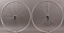 "Silver Heavy Duty Velocity NoBS 26"" Mountain Bike Wheelset Shimano Hubs 36h DT"