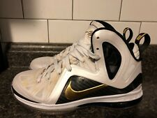 Nike Lebron 9 IX P.S. Elite White Gold Black Size 7.5 KING JAMES