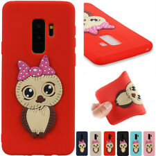 Cute 3D Cartoon Owl TPU Silicone Phone Case Cover For Samsung Galaxy Huawei