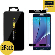 [2-Pack] SOINEED Samsung Galaxy Note5 FULL COVER Tempered Glass Screen Protector
