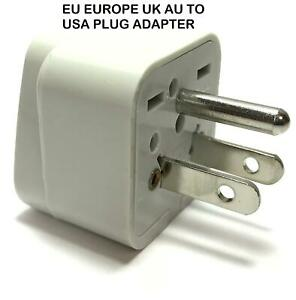 EU Europe UK AU To American Plug Adapter Euro Asia Converter to US USA Type B
