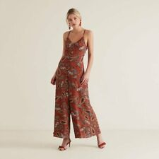Seed Heritage size 12 jumpsuit Red Velvet Paisley