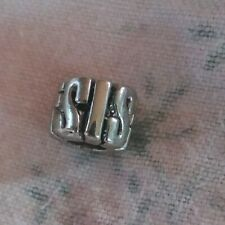 New SIS STERLING PLATED Bead Charm Euro Lot CASE PR4587