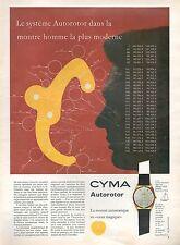▬► PUBLICITE ADVERTISING AD MONTRE WATCH CYMA AUTOROTOR Automatique Homme