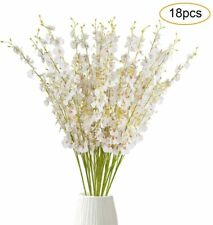 Vintage Small Plastic White Orchid Picks