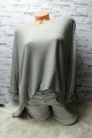 Italy Pullover Vintage Gr. 38 40 42 44 Shirt Oversized Long Puder Grau blogger