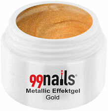 Metallic Effektgel Gold Farbgel Gelb UV Nagel Gel Effektfarbe Metallic Nails