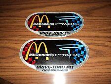 Lot of 2 McDONALDS POWERADE NASCAR racing contingency decals stickers sprint cup