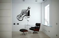 Guitar Amplifier Music Transfer Wall Art Decal MU15
