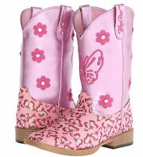M&F Western Kids Girl's Pecos Pink Boots, Size 3