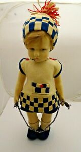 300 Series Lenci Boy with Jump Rope, Nice Condition, Wonderful Face