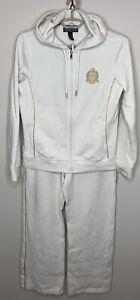 Lauren Active Ralph Lauren Women's Ivory With Gold Accents, 2 piece track suit