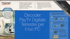 Decoder PayTV Digitale Terrestre per il tuo PC WinTV model 1258