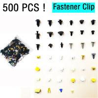500Pcs Mixed Auto Car Fastener Clip Bumper Fender Trim Plastic Rivet Panel Door