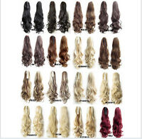 """22"""" /55CM Claw Pony tail Ponytail Clip In On Hair Extension Wavy Curly Style"""