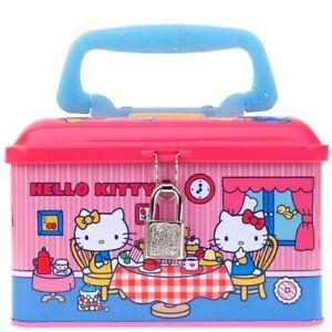 Sanrio Hello Kitty Tin Coin Cash Bank Saving Money Still Pippy Safe Storage Box