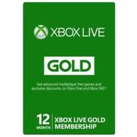 Microsoft 12-month Xbox Live Gold Membership - 1 Year Available Time (33632)