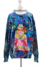 TY-G200 Buddha Hologram blau bunt Vintage Retro Sweatshirt Pullover Harajuku