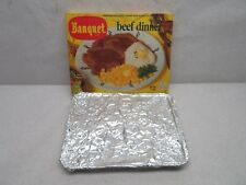 Vintage Banquet Frozen TV Beef Dinner Box with Aluminum Tray 1950's?