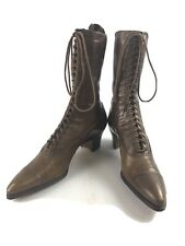 Antique Vitctorian Lace Up Leather Womens Boots- 5241