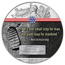 50 Jahre Mondlandung First Step on the Moon American Silber Eagle 2019 1 oz 999