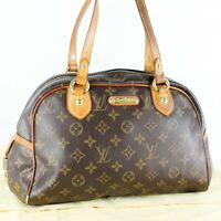 LOUIS VUITTON MONTORGUEIL PM Shoulder Bag Purse Monogram M95565 Brown
