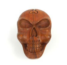 Wood Puzzle Box Skull Head Handmade Decorative Wooden Jewelry Trinket Box
